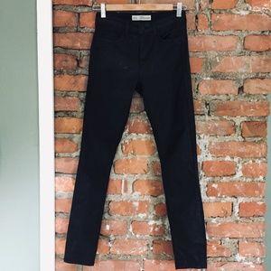 Topshop Coated LEIGH Black Denim Jeans